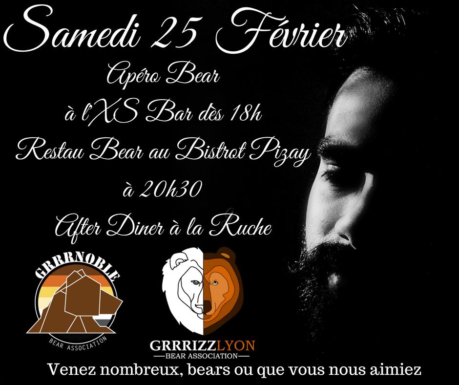Notre première soirée : 30 ours à Lyon!