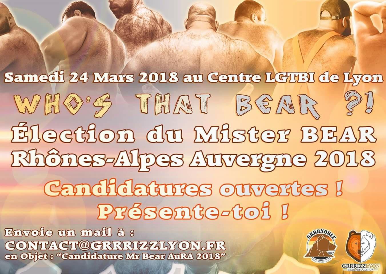 Election de Mr Bear Rhône Alpes Auvergne : devenez candidats! Candidature Clôturée!