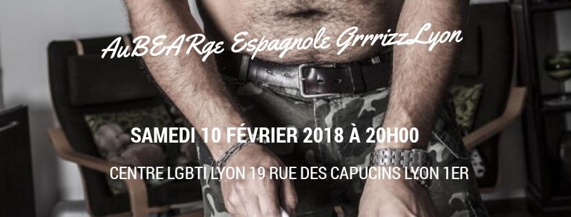 auBEARge Espagnole samedi 10 février, 20 heures au Centre LGBTI