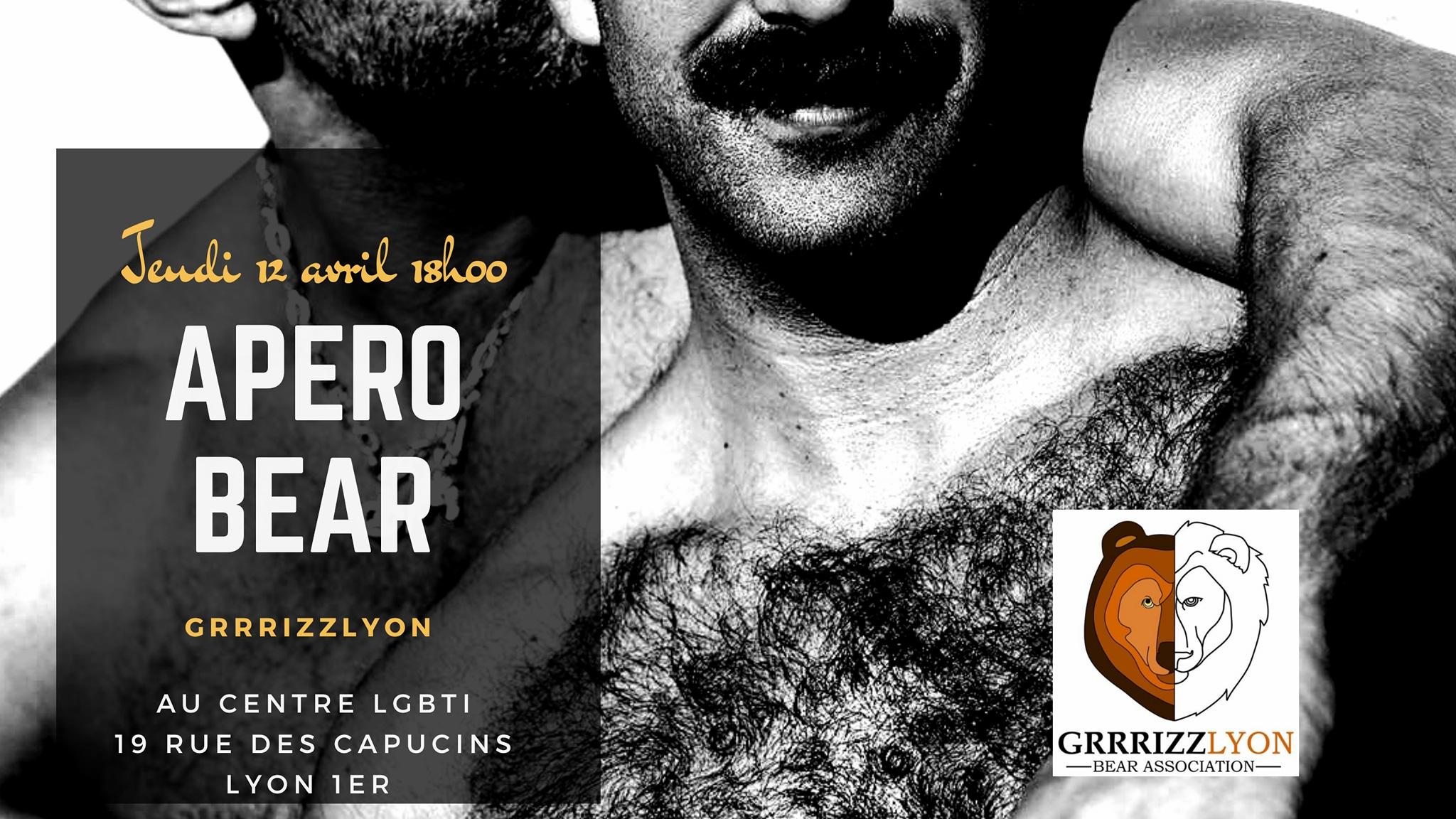 Apéro BEAR, jeudi 12 avril, 18h, Centre LGBTI