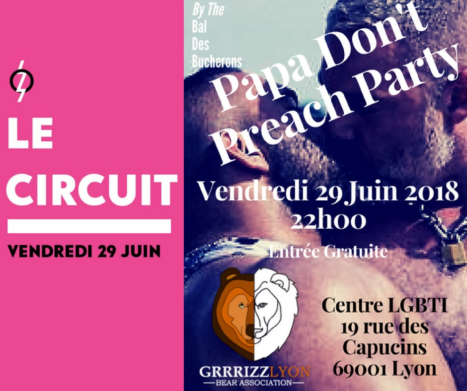 Papa Don't Preach PARTY BDB, vendredi 29 juin, Centre LGBTI