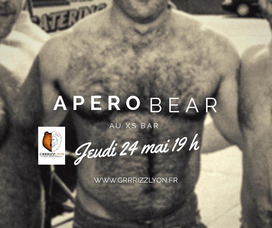 Apéro Bear, jeudi 24 mai 19h, XS Bar