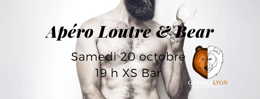 Apéro Loutre & Bear, samedi 20 octobre 19 h, XS Bar