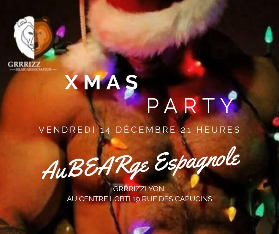 AuBEARge Espagnole Xmas Party, vendredi 14 décembre, 21 h, Centre LGBTI