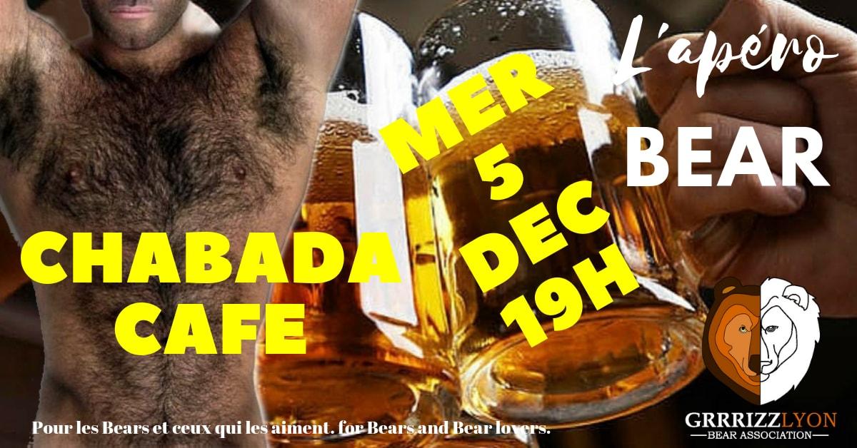 Apéro Bear, mercredi 5 décembre, le Chabada Café