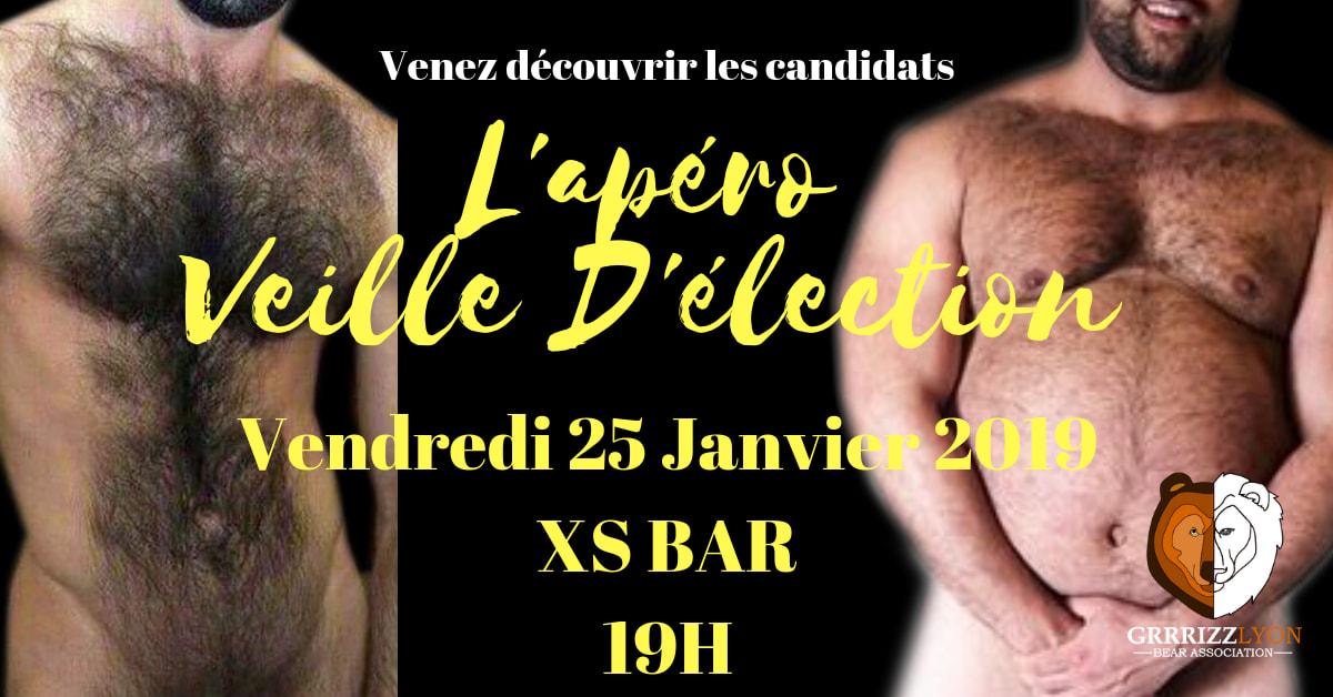 Apéro Bear Veille d'élection, vendredi 25 janvier, XS Bar