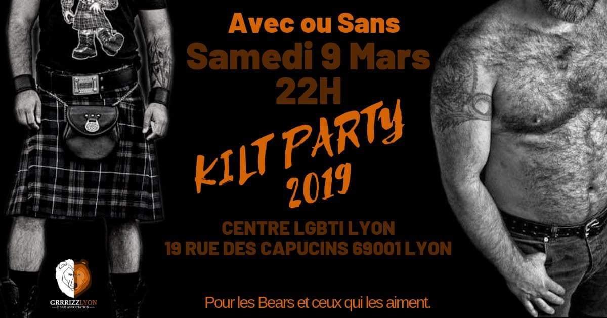Kilt Party, Bal des Bûcherons, samedi 9 mars, 22h, Centre LGBTI