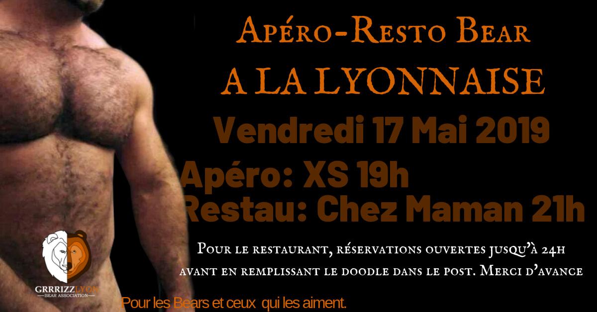Apéro Resto Bear, vendredi 17 mai, 19h