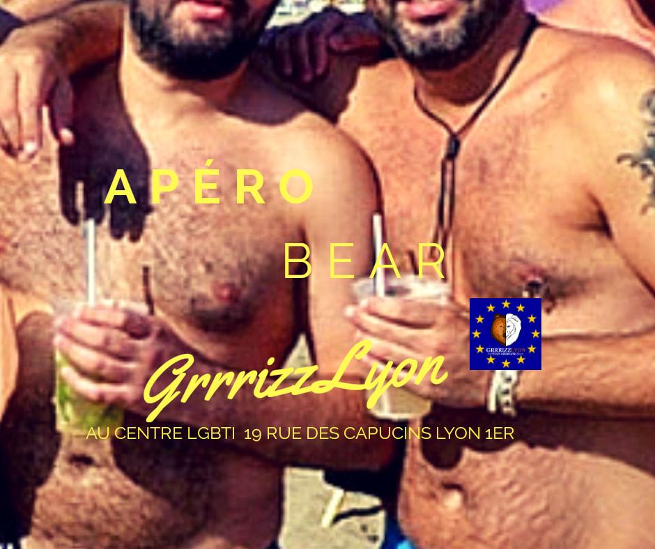 Apéro Bear, jeudi 11 juillet, 18h30, Centre LGBTI