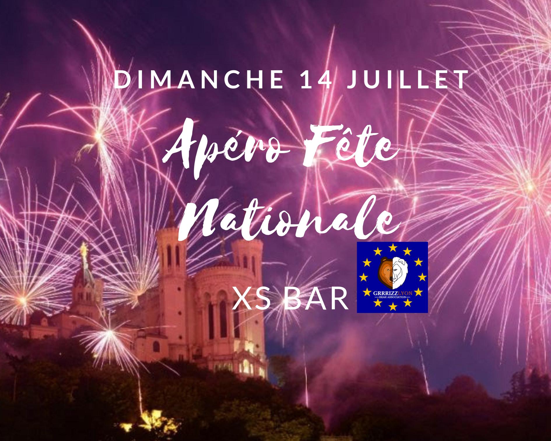 Apéro Fête Nationale, dimanche 14 juillet, 21h30, XS Bar