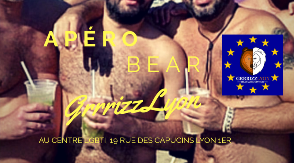 Apéro Bear, jeudi 10 octobre, 18h30, Centre LGBTI