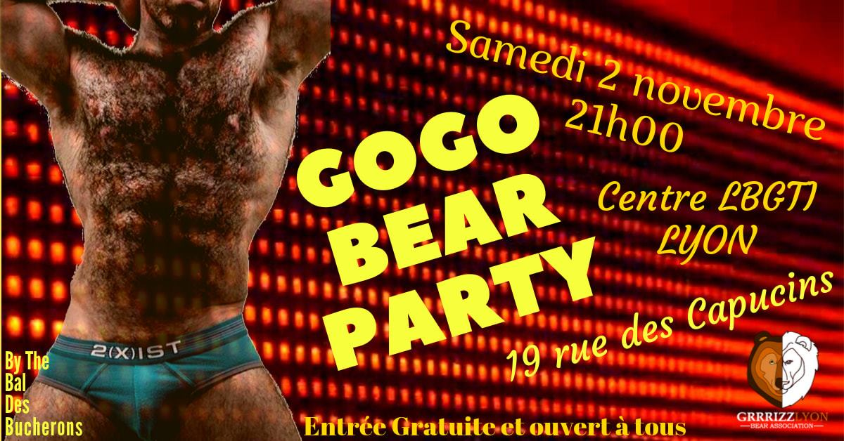 Gogo Bear Halloween Party, samedi 2 novembre, 21h, Centre LGBTI