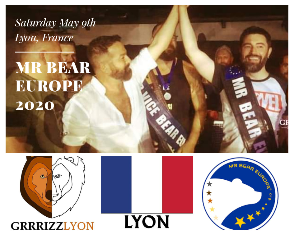 Election Mr Bear Europe 2020, Samedi 9 mai 2020 à Lyon