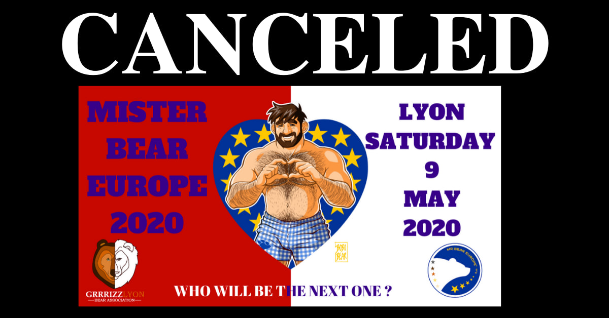 Mr Bear Europe 2020 Election Date of the evening canceled
