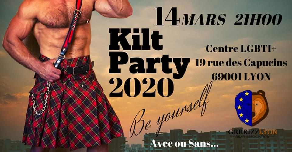 Kilt Party, Bal des Bucherons, samedi 14 mars, 21h, Centre LGBTI +