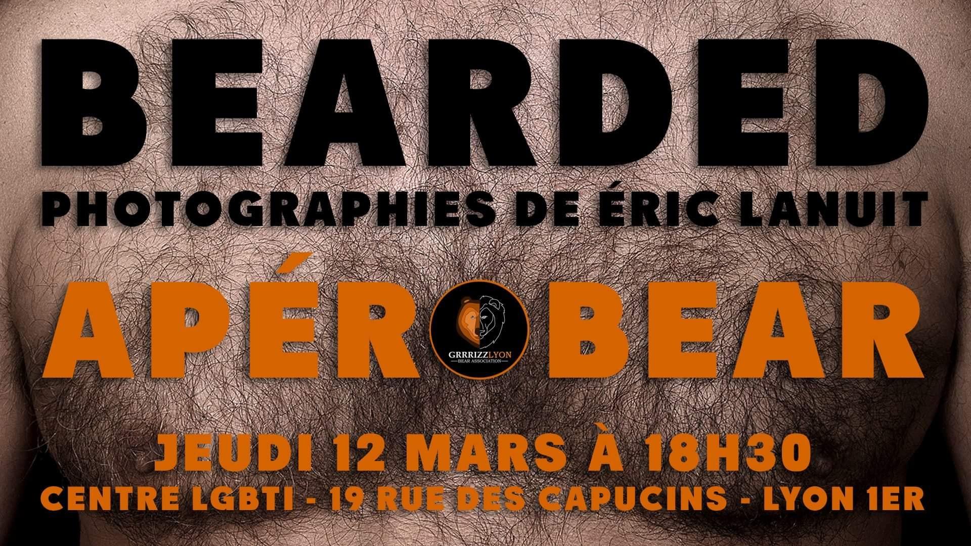 Apéro Bear Bearded Expo by Eric Lanuit, jeudi 12 mars 18h30, Centre LGBTI+