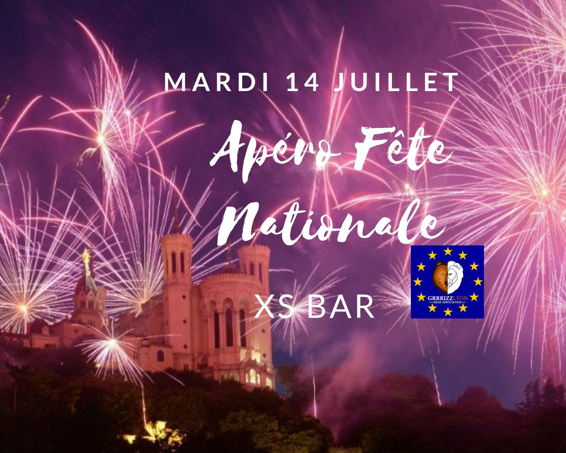 Apéro Fête Nationale, mardi 14 juillet  21 heures, XS Bar