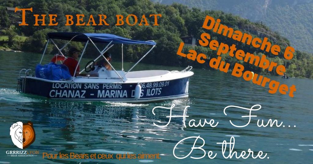 The Bear Boat, Lac du Bourget, dimanche 6 septembre